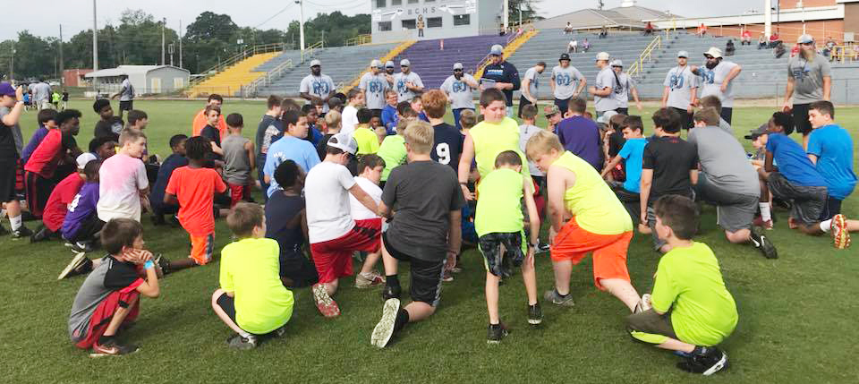 The Jones Mission football-camp